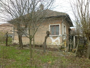 Old rural house with plot of land in a village near forest