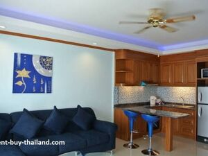Two bedroom condo for rent Baan suan Lalana clean, modern
