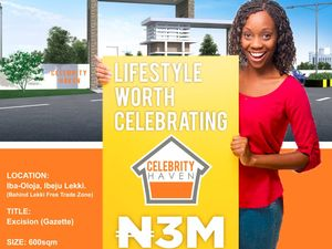 Celebrity Haven Estate behind The Lekki Free Trade Zone