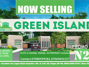 Green Island. Iba-Oloja, behind The Lekki Free Trade Zone