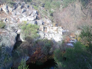 4 ruins from old mills direct on river in North Portugal