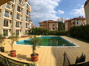 Pool view 1-bedroom apartment in Amber Beach, Sunny Beach