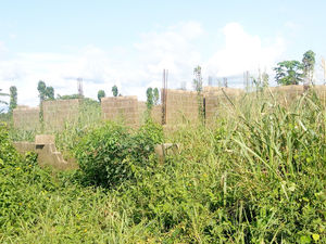 Uncompleted Duplex Structure On A Plot Of Land