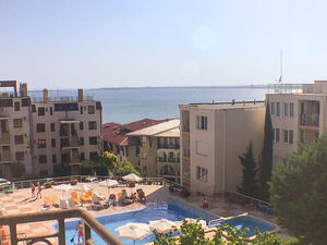 Sea view furnished studio in Sveti Vlas, 400m. to the Beach