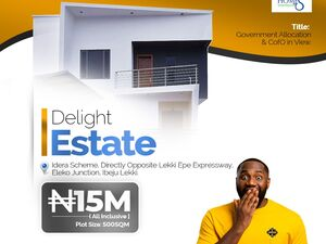 Delight Estate is within a budding middle-class environment