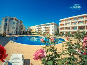 Spacious studio, 35 sq.m. with pool views in Sunny Beach