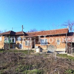 House with a large garden in the large village Maslarevo