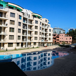 Studio with pool view in complex Avalon, Sunny Beach
