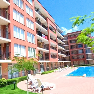 For sale is a furnished studio in Sunset Beach 4 Sunny Beach